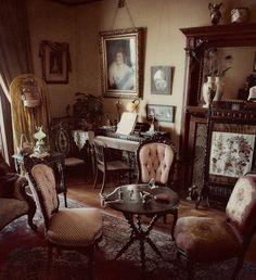 Hints of pink, sherbet walls, dark wood - you don't need simplicity to make interiors beautiful
