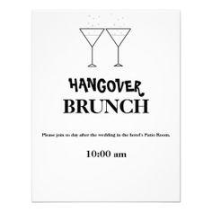 """""""Hangover Brunch"""" Invitations"""