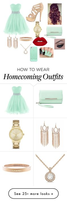 """""""Prom"""" by adilenemorales on Polyvore featuring Retrò, Chanel, Kate Spade, Allurez, Lime Crime, Casetify and Charlotte Russe"""