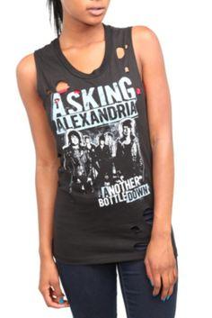 Bay Island Sportswear Asking Alexandria Snake Black Tank Top Shirt