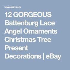 12 GORGEOUS Battenburg Lace Angel Ornaments Christmas Tree Present Decorations | eBay