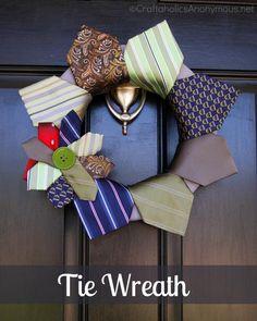 DIY Wreaths: DIY Tie wreath