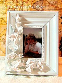 Create a floral frame that looks like Porcelain with dollar store flowers and plaster!  This unique and beautiful faux Porcelain frame makes a…