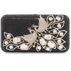 Judith Leiber Couture Smooth Rectangle Crystal Peacock Clutch (13 635 LTL) ❤ liked on Polyvore