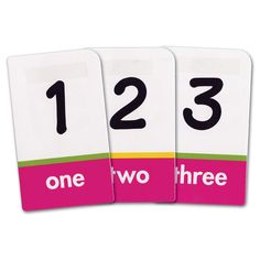 Brailled Low Vision Pocket Flash Cards Numbers - Educational - MaxiAids