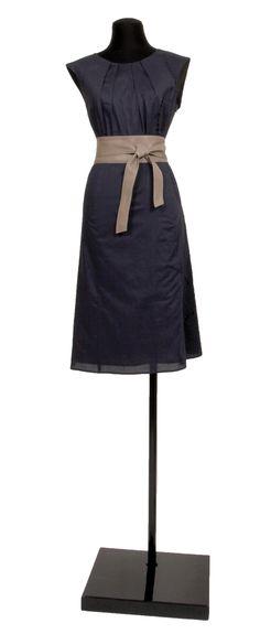 1.2.3 Paris - Robe Naelle 119€ Ceinture Odile 59€ #broderies #bleu #cuir #taupe #mode #printemps #ete #123