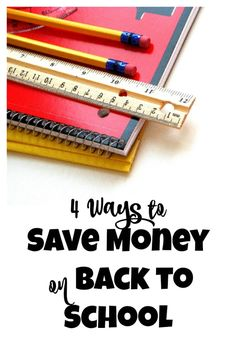 Back to school can be expensive, especially if you have more than child to buy for. Here are 4 simple ways to save on Back to School Supplies