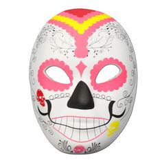 Day Of The Dead Masquerade Mask Pink Design Day Of The Dead Mask, Half Mask, Pink Design, Masquerade, Pray, Masks, Spiritual, Shell, Mexico