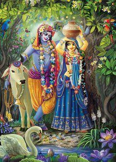 Radha-kunda pastime