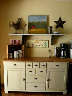 Coffee station With painting