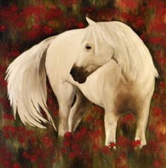 I love painting horses! I grew up riding and it just becomes a part of you,