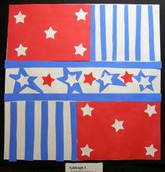 Field Elementary Art Blog!: 4th Grade. Deconstructed Jasper Johns. Awesome!