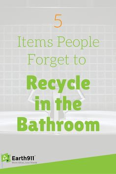 I never think about recycling in the bathroom but it totally makes sense. All those plastic bottles can totally be recycled. I think I'm going to add a recycling bin in my bathroom.