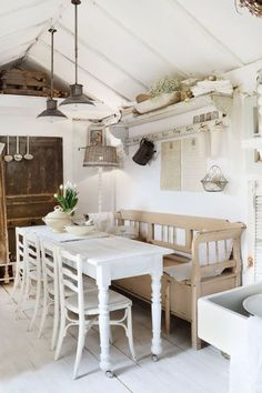 Country charm, country style, country living, swedish interiors, vintage in Swedish Kitchen, Country Kitchen, Country Homes, Country Living, Swedish Interiors, Vintage Interiors, Dream House Interior, Dream Home Design, Rustic Fireplaces