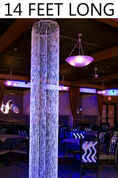 Sparkling Crystal Hanging Columns are a SHOPWILDTHINGS original. We designed these in 2007 and they are as hot today as they were then. Create glittering, shimmering columns out of thin air with our e Ceiling Hanging, Ceiling Decor, Ceiling Lights, Stage Curtains, String Curtains, Crystal Curtains, Beaded Curtains, Shop Wild Things, Church Stage Design