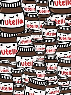 Adorable Nutella wallpaper •chocolate •Nutella •wallpaper •cute xx