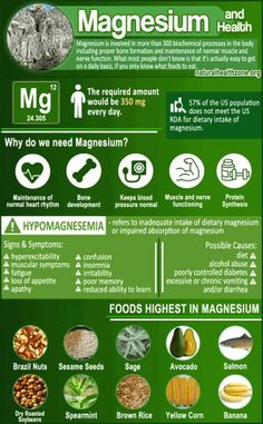 The mineral magnesium, it's health benefits, and the food you can find it in. #minerals #magnesium Health, Salud, Health Care