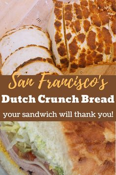 Dutch Crunch Bread: The San Francisco sandwich bread secret is out. Dutch Pancakes, Pancakes Easy, Oven Chicken Recipes, Dutch Oven Recipes, Bread Machine Recipes, Bread Recipes, Amish Recipes, Sandwich Recipes, Dutch Crunch Bread Recipe