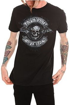 Avenged Sevenfold Ornate Deathbat T-Shirt @ Hot Topic, $18.38