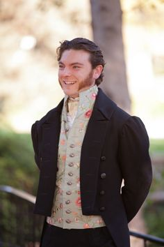 Serving Mr Darcy realness SO HARD. Love this groom.