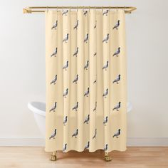 'Pigeon funny design' Shower Curtain by Juaco Framed Prints, Canvas Prints, Art Prints, Pigeon Funny, Funny Design, Floor Pillows, Curtains, Shower, Printed