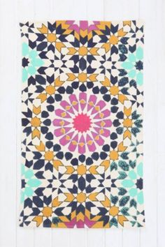 Magical Thinking Flower Tile Printed Rug