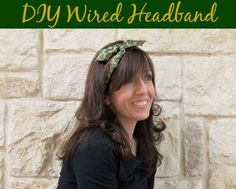 Make a Wired Headband in 15 minutes with dollar store items.