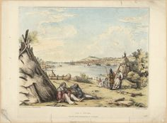 View of Halifax from the Indian Encampment at Dartmouth.  Archives Search - Library and Archives Canada