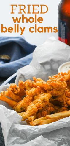 If you're a fan of fried whole belly clams, make them at home. Find out how to shuck clams and fry them for this classic New England specialty. Clam Recipes, Seafood Recipes, Appetizer Recipes, Cooking Recipes, Appetizers, Clams Seafood, Fish And Seafood, Grilled Seafood
