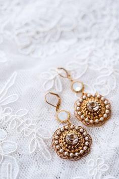 Earrings #wedding #bridal #jewelry