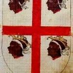 "Argent, cross of gules with four heads of Moorish kings in the quarters. It is called ""Alcoraz Cross"" (Cruz de Alcoraz). Gaspar Torres' Armorial of Aragon, Zaragoza Provincial Historical Archives. Date 1536 African Royalty, Like Image, Black History Facts, Sardinia Italy, My Land, Moorish, Renaissance Art, Coat Of Arms, Dark Art"
