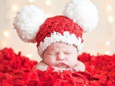 Baby Christmas Hat Baby Santa Hat Newborn Baby di TSBPhotoProps