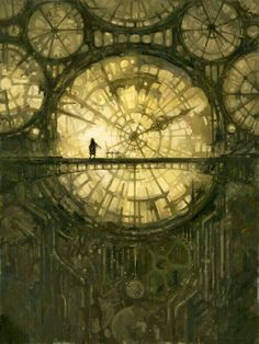 steampunk clock-like system of windows. Would also work in a fantasy setting.Fantastic steampunk clock-like system of windows. Would also work in a fantasy setting. Steampunk Kunst, Steampunk Clock, Steampunk City, Steampunk Cosplay, Dieselpunk, Fantasy World, Dark Art, Cool Art, Concept Art
