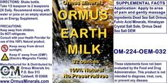 Ormus Minerals - Ormus Earth Milk Liquid Ormus With Fulvic Acid 32 oz SALE!!