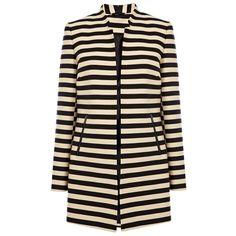 Oasis Stripe Coat:: High Street New in Store: July 2013