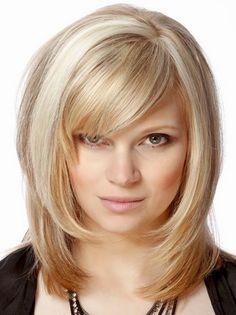 Włosy półdługie modne fryzury