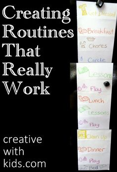How to Make Routines That Work for Your Family & kids
