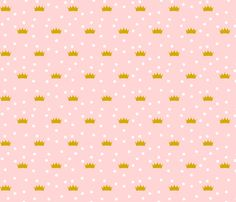 Pink Crowns fabric by mrshervi on Spoonflower - custom fabric