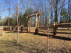 My split log fence