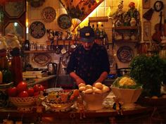 Mes Amis, Fulham. One man wonderland master show of Lebanese food.