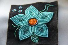 Jennifer Rafferty | NWT Arts Native Beading Patterns, Bead Embroidery Patterns, Beadwork Designs, Bead Loom Patterns, Beaded Embroidery, Hand Embroidery, Indian Beadwork, Native Beadwork, Native American Beadwork