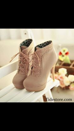 Shoes shoes shoes creamy so nice love them really like the beads and lace xx
