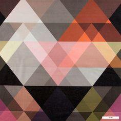803450 Børstet bomuld m magiske trekanter