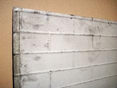 Vintage Pressed Tin Panel / Brick Pattern / Galvanized Metal / Painted / Large on Etsy, $90.00
