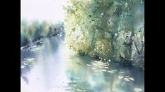Watercolor Reflections- watercolor painting of trees and sunlight along a river  by Katrina Pete - YouTube