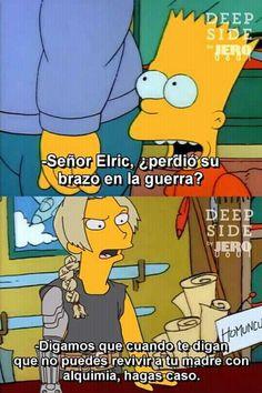 Fullmetal Alchemist Brotherhood, Spanish Memes, Yandere, Bart Simpson, My Hero Academia, Laughter, Naruto, Family Guy, Lol