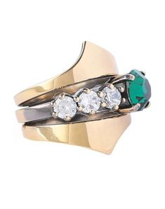 Shop on-sale Burnished gold-tone crystal ring. Browse other discount designer Rings & more luxury fashion pieces at THE OUTNET Iosselliani, Off Colour, Fashion Outlet, Discount Designer, Ring Designs, Heeled Mules, Cuff Bracelets, Gold Rings, Luxury Fashion