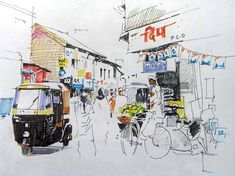 : art workshops in bangalore - 10897784 10204798735001092 2930829181345681396 n - Hues of Watercolor workshop by Milind Mulick- Art workshops in Banaglore - photo Watercolor Paintings For Beginners, Watercolor Artwork, Watercolour, Watercolor Landscape, Landscape Paintings, Human Figure Sketches, Architecture Drawing Sketchbooks, Composition Painting, Perspective Art