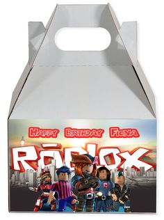 World of Pinatas - Roblox Personalized Gable Box, $2.50 (http://www.worldofpinatas.com/roblox-personalized-gable-box/)