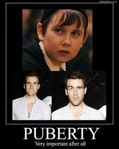 I never was never a Harry Potter fan but if I knew that goofy lookin kid would grow up to be that hottie I might have paid more attention lol